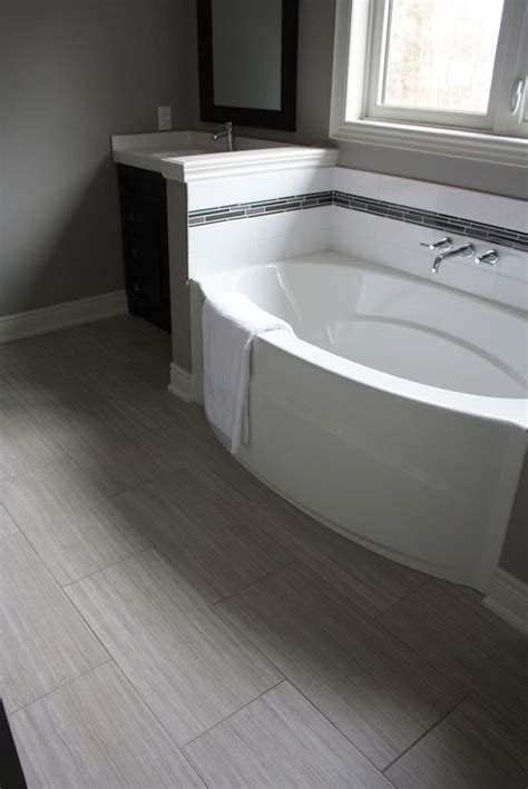 bathtub in floor 41 cool bathroom floor tiles ideas you should try digsdigs