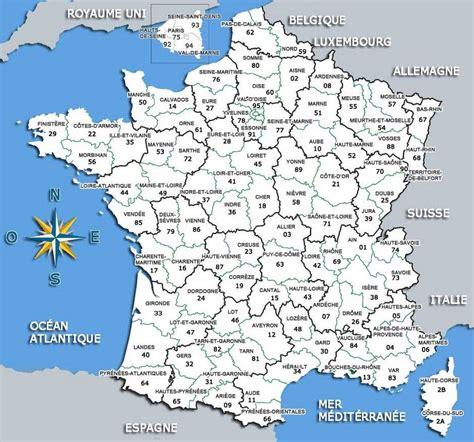 carte de france departements education pinterest