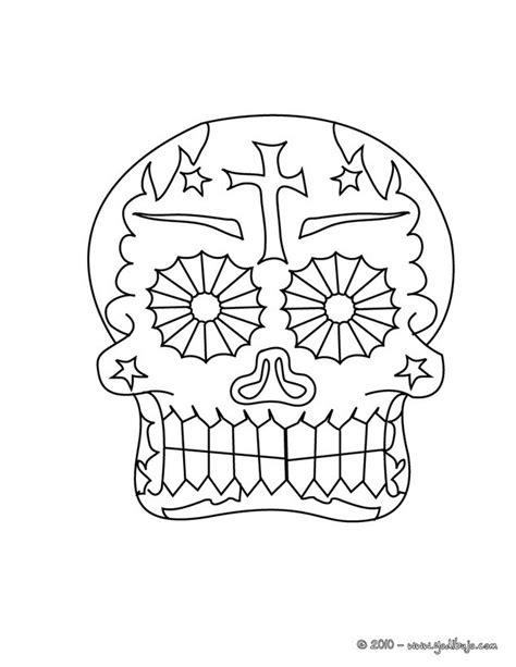 dibujos para colorear calaveras de dia de muertos dibujos para colorear una calavera decorada mexicana para
