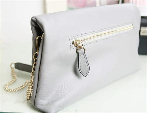 Handmade Clutch - cooper hill handmade leather grey clutch handbag