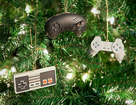 geeky game tree decorations nerdy christmas ornaments
