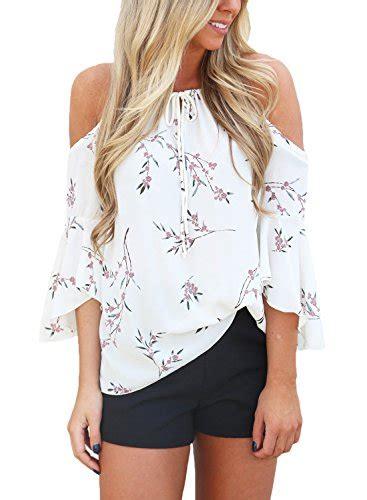 Cold Shoulder 3 4 Sleeve T Shirt hotapei s floral print cold shoulder 3 4 sleeve