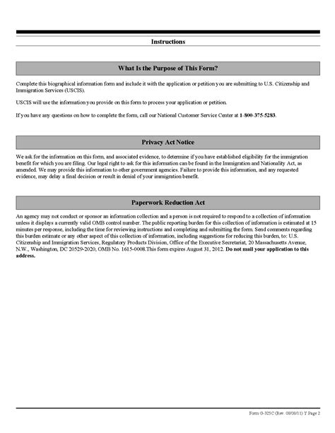 Collection Of Biography Form Uscis Is The G 325a Form Available To