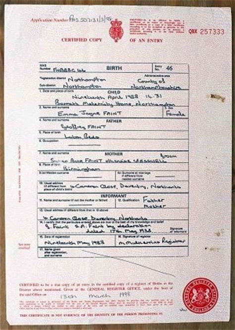 full birth certificate nuneaton my life was a lie now gaps on my birth certificate