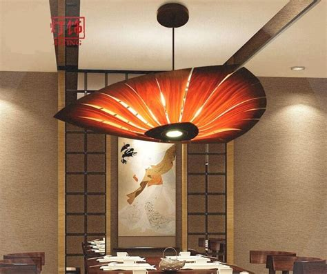 south east asian wood pendant light dining room living