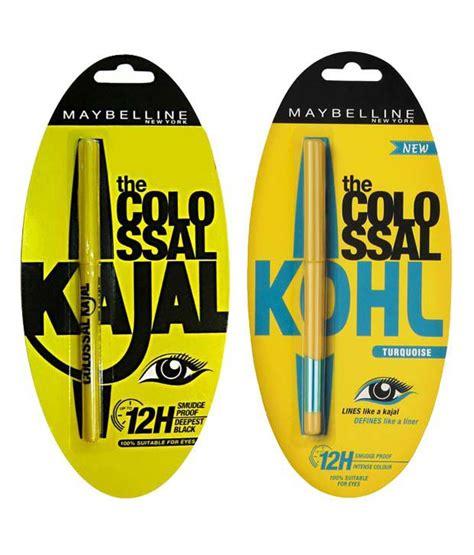 Eyeliner Colossal Kajal Maybelline Rs 150 maybelline colossal 12h black kajal 0 35 gm colossal kohl turquoise 0 35 gm buy maybelline
