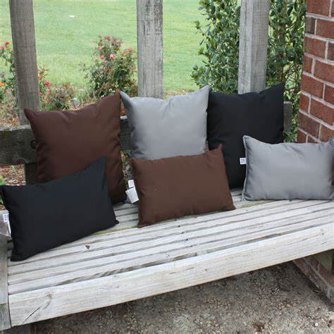 Black Outdoor Throw Pillows by Black Sunbrella Outdoor Throw Pillow Dfohome