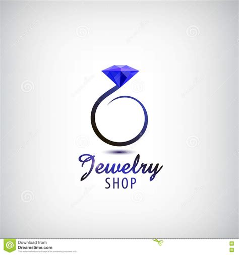free logo design jewellery crystal abstract jewelry concept royalty free stock photo