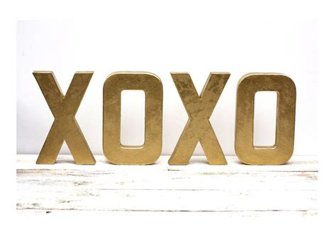 Letter Xoxo As Seen In Better Homes And Gardens Magazine Metallic Gold Letters Xoxo 8 Inches