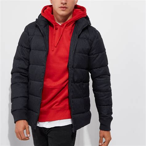 Hooded Puffer Jacket navy hooded puffer jacket coats jackets sale
