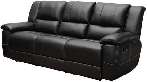 Black Leather Sofa Recliner Black Bonded Leather Reclining Sofa Stores Chicago
