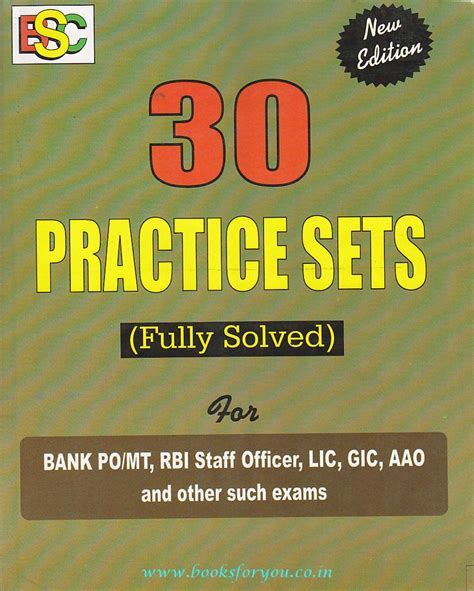 practice set for lic aao 30 practice sets fully solved for bank po mt rbi staff