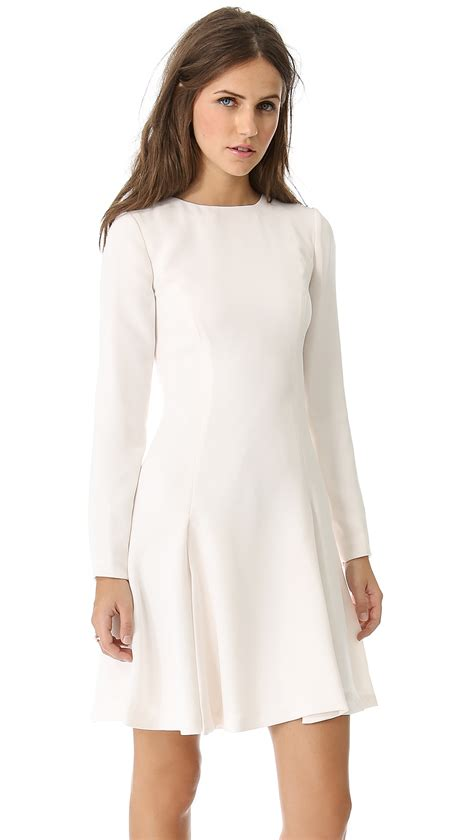 white swing dress opening ceremony zodiac swing dress in white off white