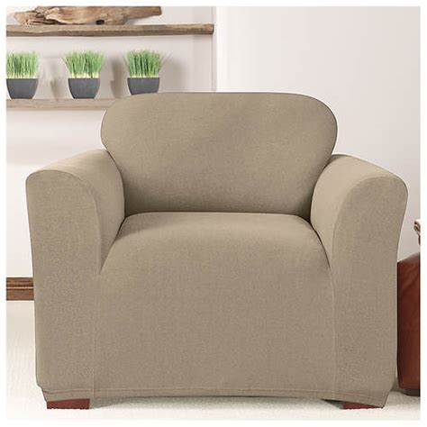 3 Chair Slipcover by Surefit 174 Stretch Twill Chair Slipcover Stoneberry