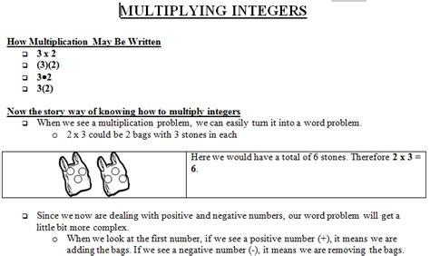 Integers 7th Grade Worksheets by Multiplication Worksheets 187 Multiplication Worksheets
