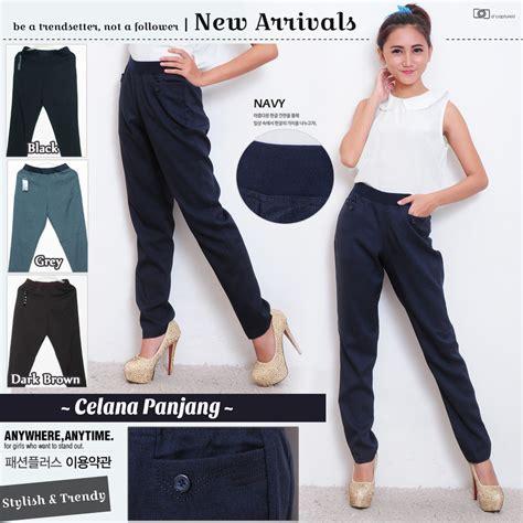 Celana Kerja Karet Wanita celana kerja wanita berkualitas pinggang karet dan resleting tersedia warna dan ukuran celana