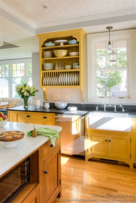 yellow cabinets design ideas country kitchen design pictures and decorating ideas