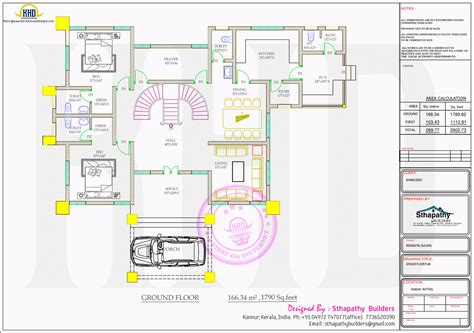 ground floor plan drawing colonial home by sthapathy builders kerala home design and floor plans