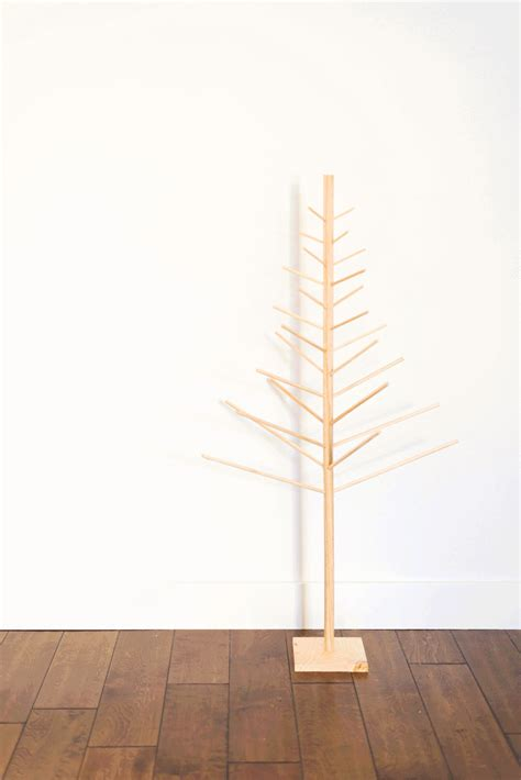 diy wooden dowel christmas tree fresh homestyle