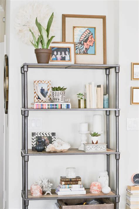 apartment refresh bookshelf styling