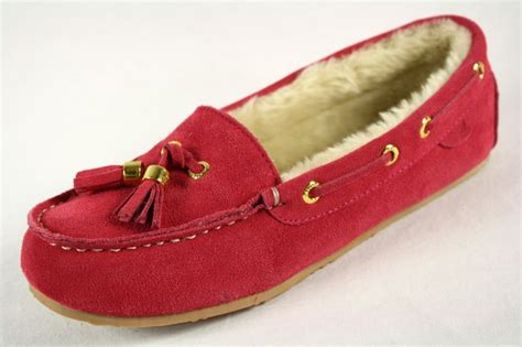 boat house shoes sperry top sider ruby pink slippers faux fur womens house boat shoes ebay