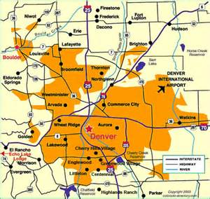 Denver Metro Area Map by Denver Metro Map Images