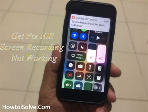 fix ios 12 screen recording not working on iphone xs max xs xr x 8 7 6s se