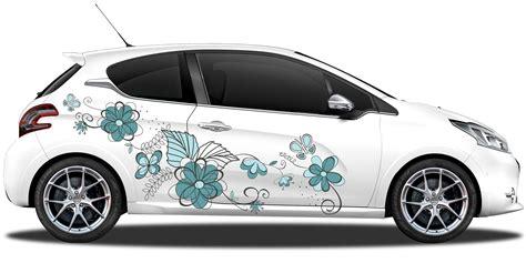 Auto Aufkleber by Mehrfarbiger Autoaufkleber Mit Gro 223 Em Blumenornament