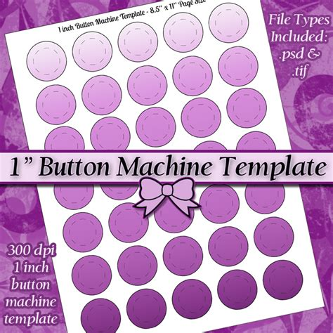 1 button template one inch button machine digital collage sheet template