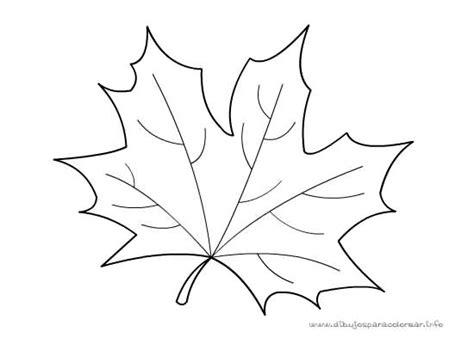 hojas de otono coloring pages hoja seca de oto 241 o dibujalia dibujos para colorear