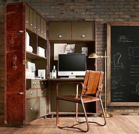masculine home decor 20 masculine home office with leather touch house design