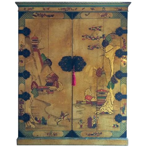 japanese armoire antique chinoiserie wardrobe armoire lacquer oriental japanese at 1stdibs