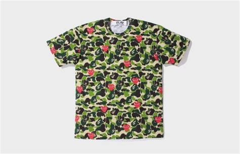 Cdg Play Comme Des Garcons Not Bape Camo Supreme Lv White Galaxy comme des gar 231 ons a history of bape collaborations complex