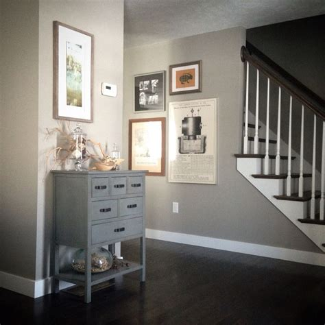 Neutral/natural entryway decor in our new home. Sherwin