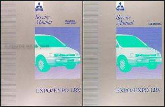 download car manuals 1996 mitsubishi expo lrv electronic throttle control 1992 1995 mitsubishi expo expo lrv service shop manual original 2 volume set
