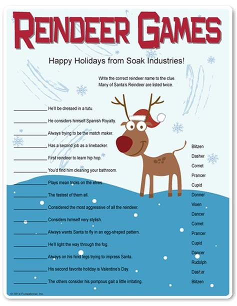 printable reindeer trivia printable reindeer games they re like fun riddles who