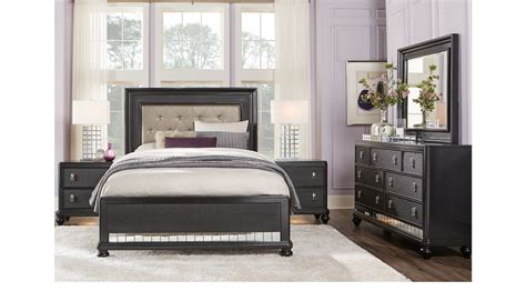 paris bedroom sets paris black 7 pc king bedroom panel contemporary