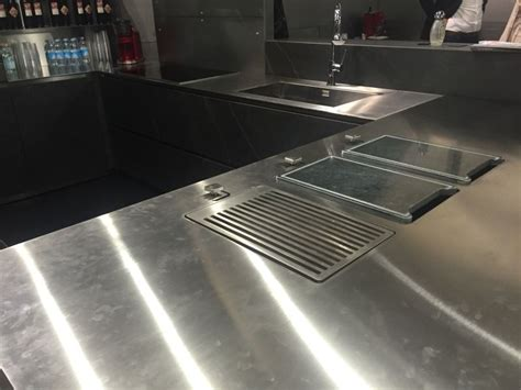 Used Stainless Steel Countertops by Stainless Steel Countertops For Hardworking Stylish Kitchens Interior Designs