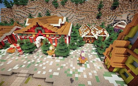 north pole merry christmas minecraft building