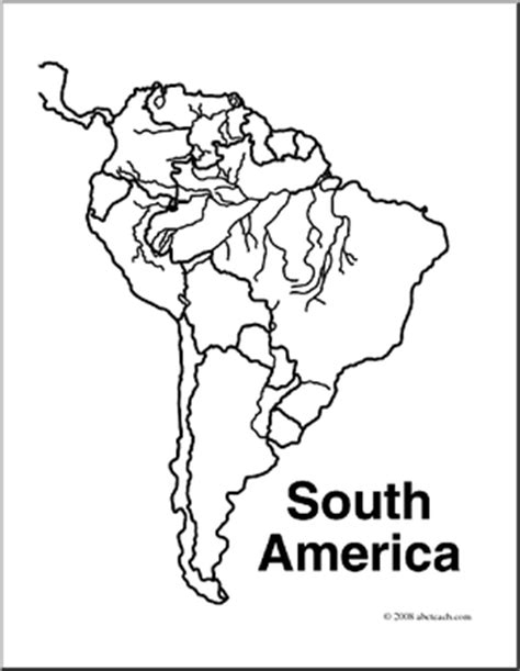 coloring page map of south america south america map clipart 56