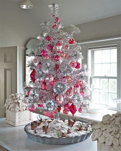 christbaum in pink rosa weihnachtsbaum tannenbaum