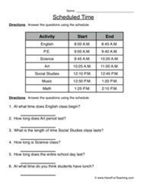 blended learning in 2 minutes and 38 seconds scheduled time telling time worksheet 4 unit of time