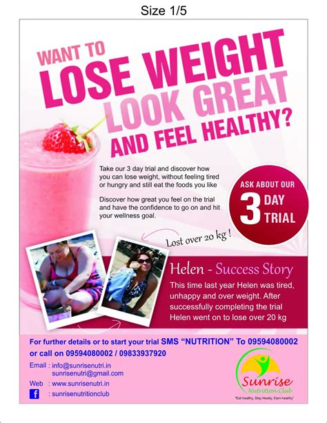 Sunrise Nutrition Club Herbalife Independent Distributor In Navi Mumbai Herbalife Flyer Template