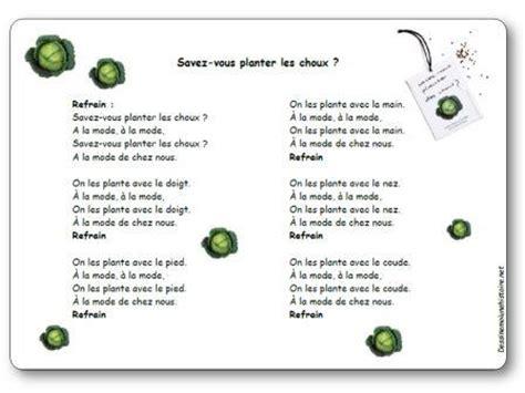Chanson Savez Vous Planter Les Choux Paroles Illustr 233 Es