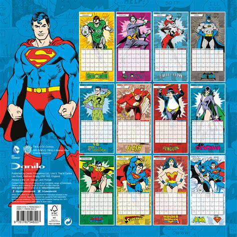 Calendar 2018 Comics Dc Comics Calendars 2018 On Abposters
