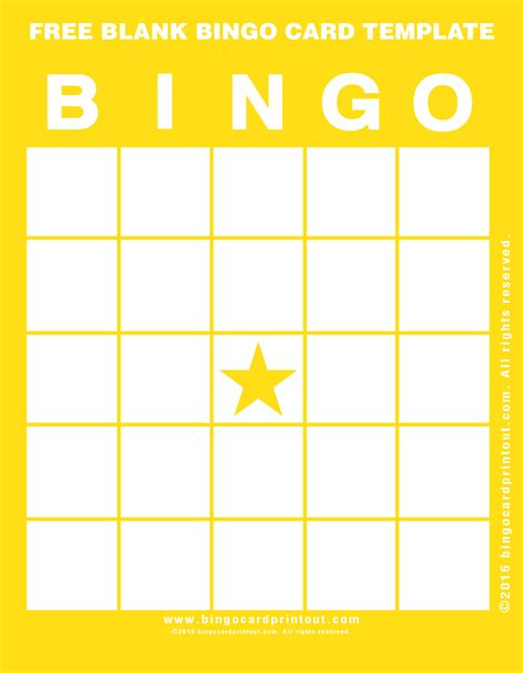 Blank Cards Template Free by Free Blank Bingo Card Template Bingocardprintout