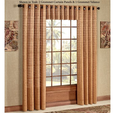 bamboo panel curtains bamboo light filtering grommet panel