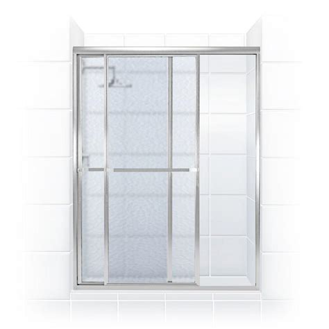Towel Bar For Glass Shower Door Coastal Shower Doors Paragon Series 52 In X 70 In Framed Sliding Shower Door With Towel Bar In