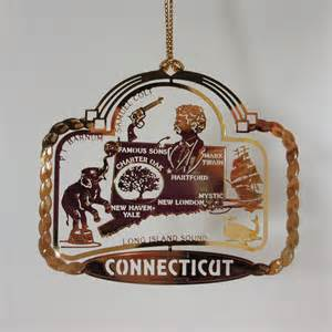 connecticut christmas ornament state landmarks souvenir gift