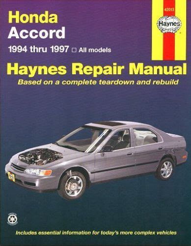 buy honda accord repair manual 1994 1997 motorcycle in richardson texas united states for us